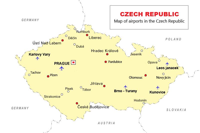 ban-do-danh-sach-cac-san-bay-tai-cong-hoa-sec-czech-republic-airport